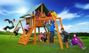 dream a wood swing set best in backyards