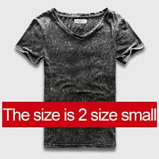 fashion for heavy men men fashion heavy washed slim fit v neck t shirt offerjack