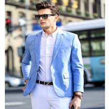 light blue jacket mens 2017 spring new style youny mens light blue suits for daily work