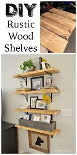 rustic metal shelves diy rustic wood shelves at home with the barkers