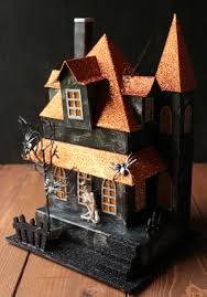 Raz Imports Halloween Decorations Halloween Lighted House With Skeleton By Raz Imports The Weed