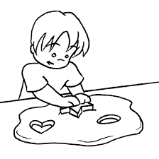 play doh kid coloring page coloring pages kids