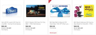 gift cards save 10 5x on lowe u0027s and bedbath u0026beyond and more