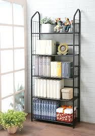 Industrial Metal Bookshelf Bookshelf Astounding Metal Book Shelf Metal Bookcase With Glass