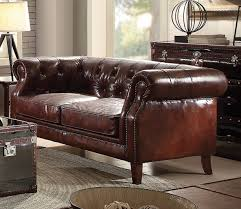 Leather Sofas Aberdeen Sofa 53625 In Brown Top Grain Leather By Acme W Options