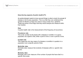 Infantry Resume Examples by Describe Key Aspects Of Public Health Identify Current Patterns
