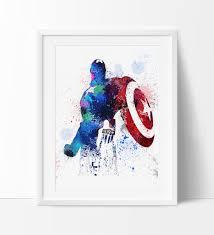 avengers home decor captain america captain america print marvel avengers marvel