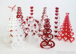 valentines decor trees 6 assorted styles 3dcuts