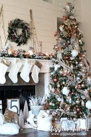 glam metallic farmhouse tree