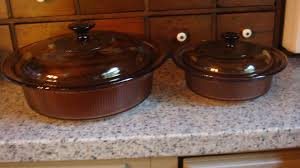 Corning Dishes Large Corning Ribbed Glass Amber Visions 2 5 Quart Casserole With