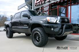 toyota tacoma tire size toyota tacoma with 18in fuel trophy wheels exclusively from butler