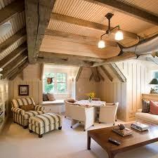 finished attic beadboard ceiling u0026 beams attic renovation
