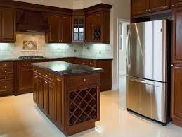 kitchen islands with wine racks classy mission style kitchen features rectangle shape brown wooden