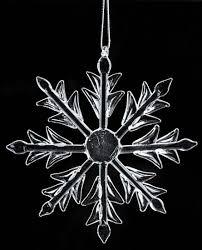 glass snowflake ornaments ornaments