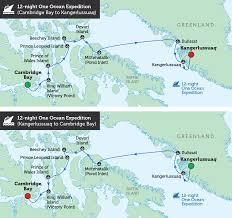 Greenland Map Classic Northwest Passage U0026 West Greenland Bunnik Tours