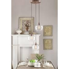 3 Light Pendants Uptown 3 Light Globe Cluster Copper Pendant Overstock
