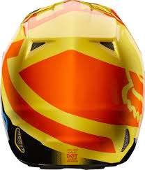 orange motocross helmet 2018 fox racing v2 preme helmet motocross dirtbike offroad mens