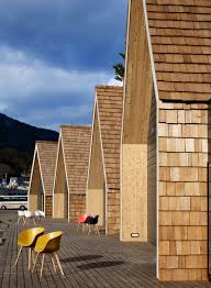 prefab ocean huts rise on quake damaged site in japan curbed