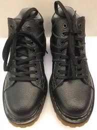 cost effective dr martens doc black leather boots harrisland 8 eye