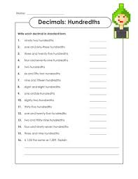 expanded form with decimals worksheets decimals in number name