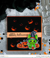 halloween stamp meowy halloween clear stamp set u2013 studio katia