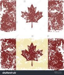 Greek Canadian Flag Old Scratched Flag Vector Illustration Vintage Stock Vector