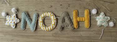 lettres pour chambre bébé guirlande prénom ou lettres pour décoration chambre bébé enfant