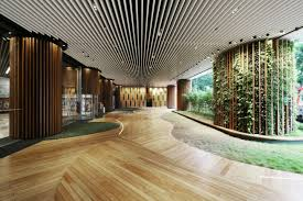 Nature Concept In Interior Design Green Office Lobby By 4n Design Architects Hong Kong Retail