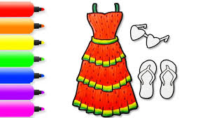 watermelon girls dress and accessories coloring pages art colors
