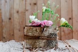 Birch Bark Vases Diy A Rustic Birch Bark Wedding Centerpiece Belle U0026 Chic