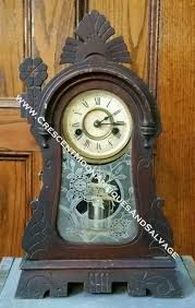collectibles crescent moon antiques and salvage ansonia mantel clock