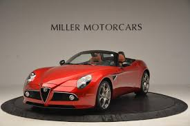 alfa romeo 8c 2009 alfa romeo 8c spider stock 6958 for sale near westport ct