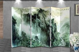 chinese room divider oriental style 6 panel foldable shoji screen room divider chinese