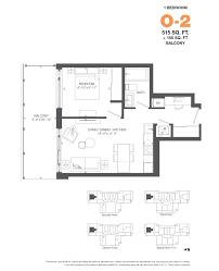 O2 Floor Plan by Bowery Ottawa Condos Floor Plans Centretown Condos Bowery Ottawa