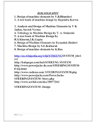 How To Make A Reference Page For Resume Front Wheel Steering System With Moveable Headlights