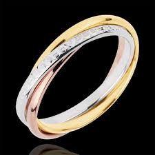 wedding ring model wedding ring saturn movement medium model 3 golds 3 rings