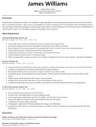 business analyst resume template business analyst resume sle resumelift
