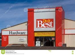 do it best hardware store and logo editorial stock photo image