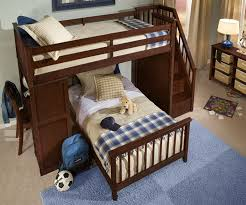 Loft Bunk Bed With Stairs School House Stair Loft Bunk Bed Cherry Bed Frames Ne