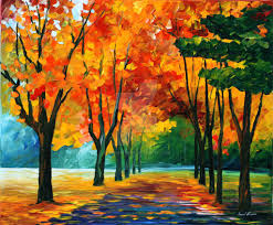 fall dream by leonid afremov by leonidafremov on deviantart