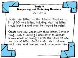 project based learning u0026 enrichment for comparing and ordering numbers