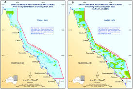 Great Barrier Reef Map Fig 1 Great Barrier Reef Marine Park Before A And After B Re