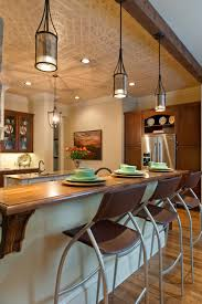 Above Kitchen Island Lighting Picturesque Hanging Lights Above Breakfast Bar For Curtain