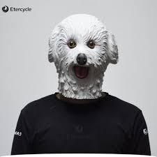 latex masks halloween aliexpress com buy halloween masks white teddy dog latex animal