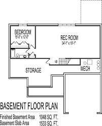 2 Bedroom Floor Plans With Basement Design A Basement Floor Plan Phenomenal House Plans With 2