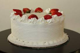 Decoration Of Cake At Home White Cake With Strawberries Decoration Youtube