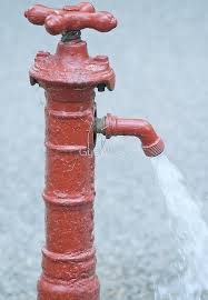 Water Faucet On Fire Red Outdoor Water Faucet
