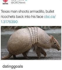 Armadillo Meme - news qcbcnews texas man shoots armadillo bullet ricochets back into