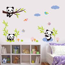 diy home decor wall new 3d wall stickers cartoon panda removable diy room home decor