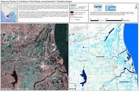 satellite maps 2015 mapping floods in cuddalore tamil nadu sentinel 1